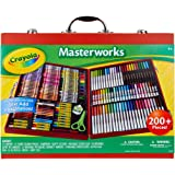 Crayola Masterworks Art Case, 200+ Pieces, Gift for Kids, Ages 4, 5, 6, 7