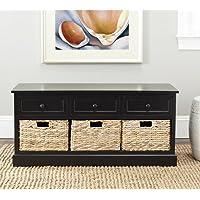 Safavieh American Homes Collection Damien Distressed Black 3 Drawer Storage Unit