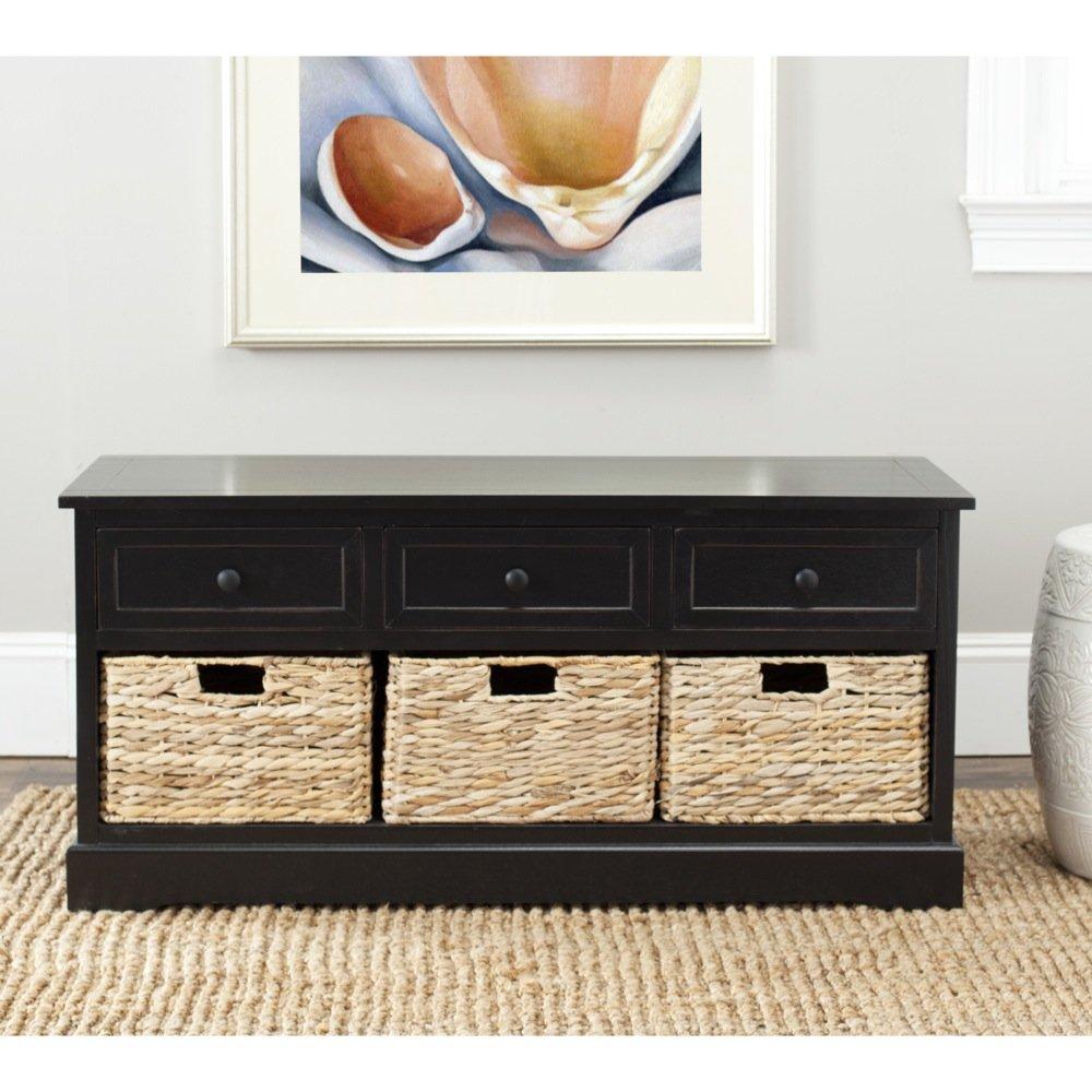 Amazon.com: Safavieh American Homes Collection Damien Red 3 Drawer Storage  Unit: Home U0026 Kitchen