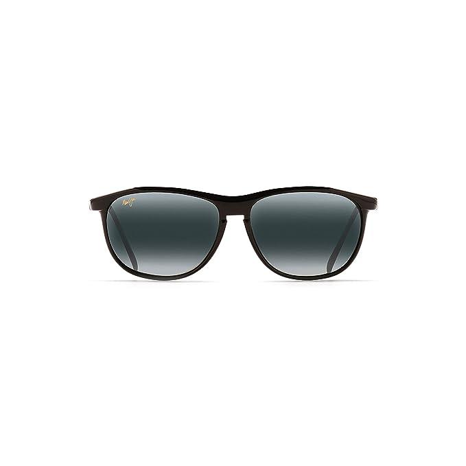 861b979295fc Maui Jim Men's Voyager 178-02 Black Wayfarer Sunglasses: Maui Jim ...