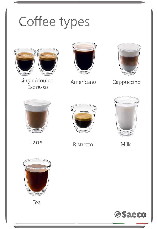 Philips Saeco PicoBaristo SM5460/10 - Cafetera Súper Automática, 11 Bebidas de Café Personalizables, Jarra de Leche Integrada, Limpieza Automatica, ...