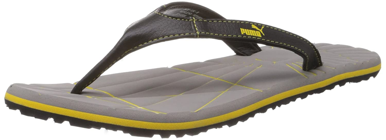 60e303611e3b40 Puma Men s Webster Steel Grey and Dandelion Hawaii Thong Sandals -  10UK India (44.5EU)  Buy Online at Low Prices in India - Amazon.in