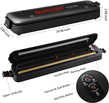Sweager Household Automatic Vacuum Air Sealing System