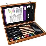 Derwent Academy 2300147- Set colori arte in scatola di legno