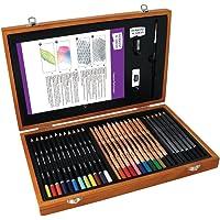 Derwent Academy, kit d'art dans une boîte en bois