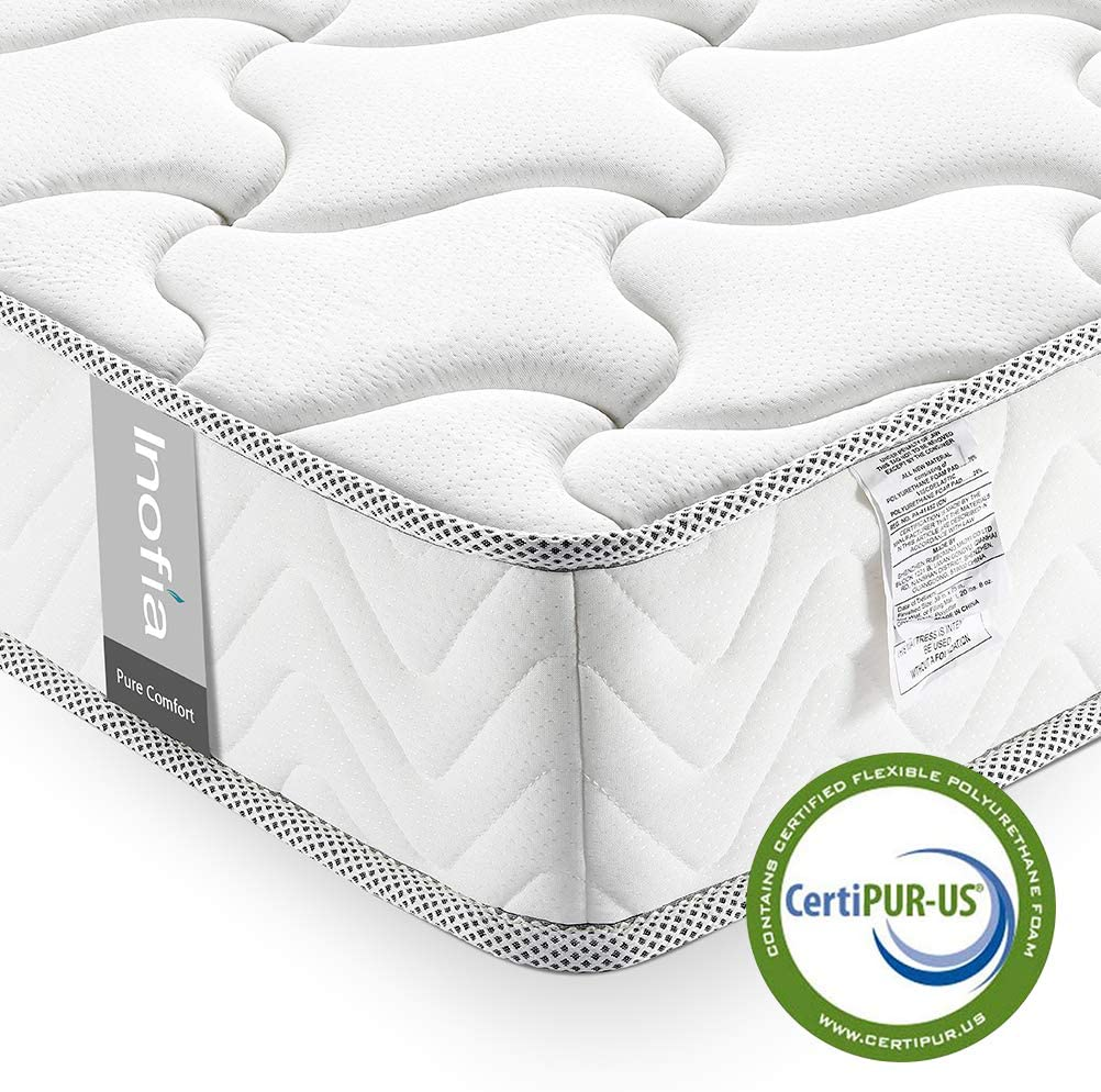 Queen Mattress Memory Foam 6 Inch, Inofia Cool Memory Foam Queen Bed in a Box, CertiPUR-US Certified, Pressure Relief Comfy Body Support, No-Risk 100 Night Trial