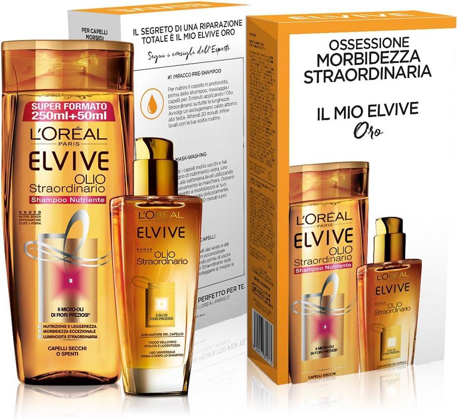 L Oréal Paris Elvive estuche Tratamiento pelo cabellos secos: Amazon.es: Belleza