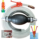 Siphon Pro XL, Largest Siphon for Water, Gas, Diesel, It's a Pump or Siphon, Get Work Done Fast, 8' & Shut off Clip