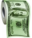 The Gags Hundred Dollar Bill Money Toilet Paper-Novelty Funny Toilet Paper
