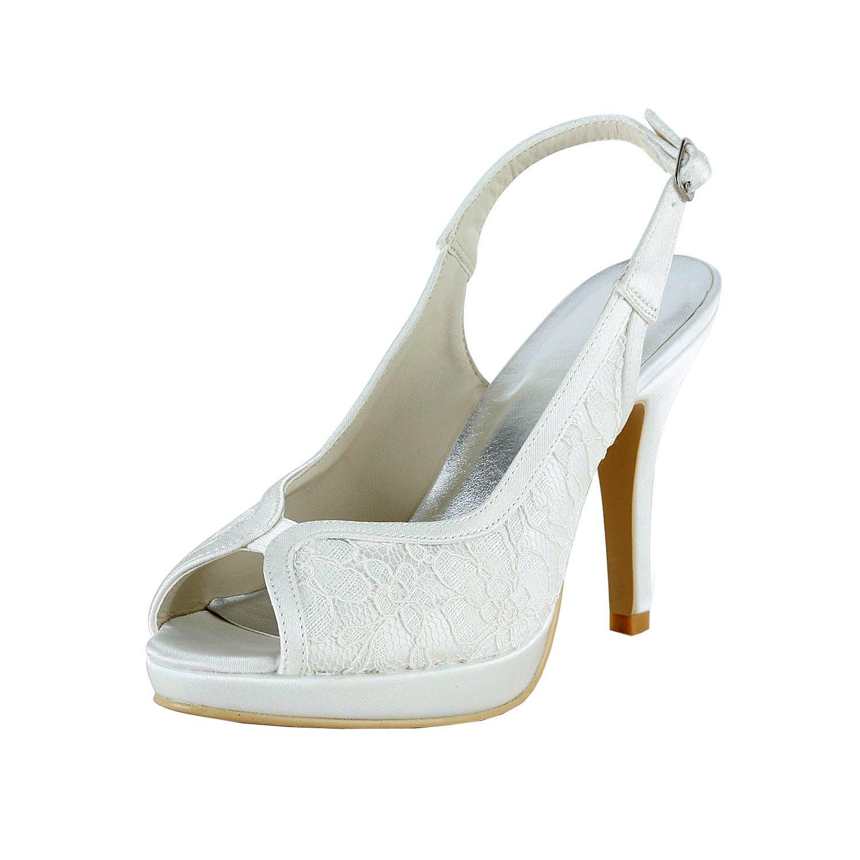 Kevin Fashion - Zapatos de boda fashion mujer 38.5 EU|marfil