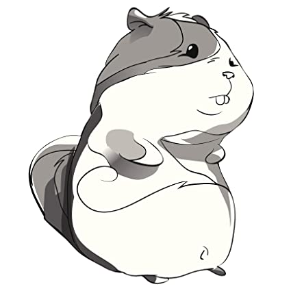 amazon com cute gray sketch hammy hamster vinyl decal sticker 12