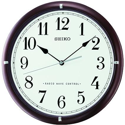 Seiko QXR303B Radio Controlled Wooden Wall Clock Dark Brown 35 8 X 35 8 X 5 6 Cm