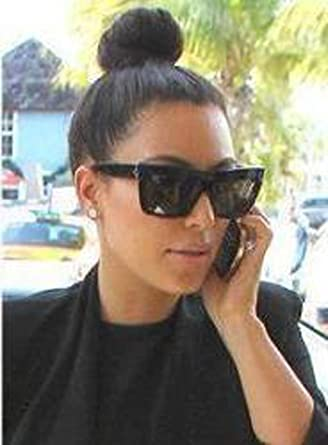 23677b5e90b Amazon.com   550 Celine cl41756zz top Black Kim Kardashian Sunglasses   Clothing