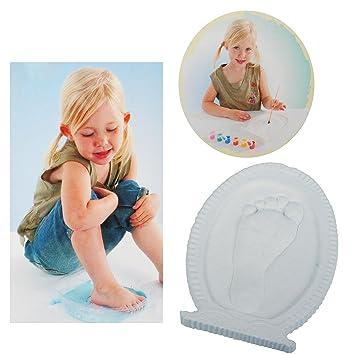 3-D Bastelset - Fußabdruck / Händeabdruck - incl. Farben & Pinsel ...