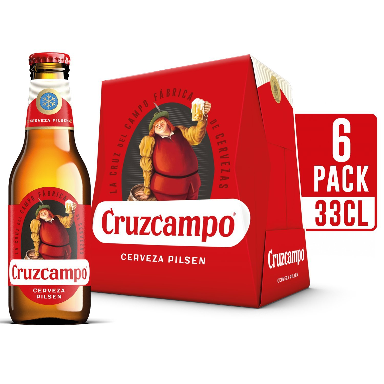 Cruzcampo Cerveza - Pack de 6 Botellas x 250 ml - Total: 1,5 ...