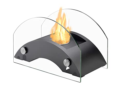 Ignis Portable Tabletop Ventless Bio Ethanol Fireplace   Harbor (Black)