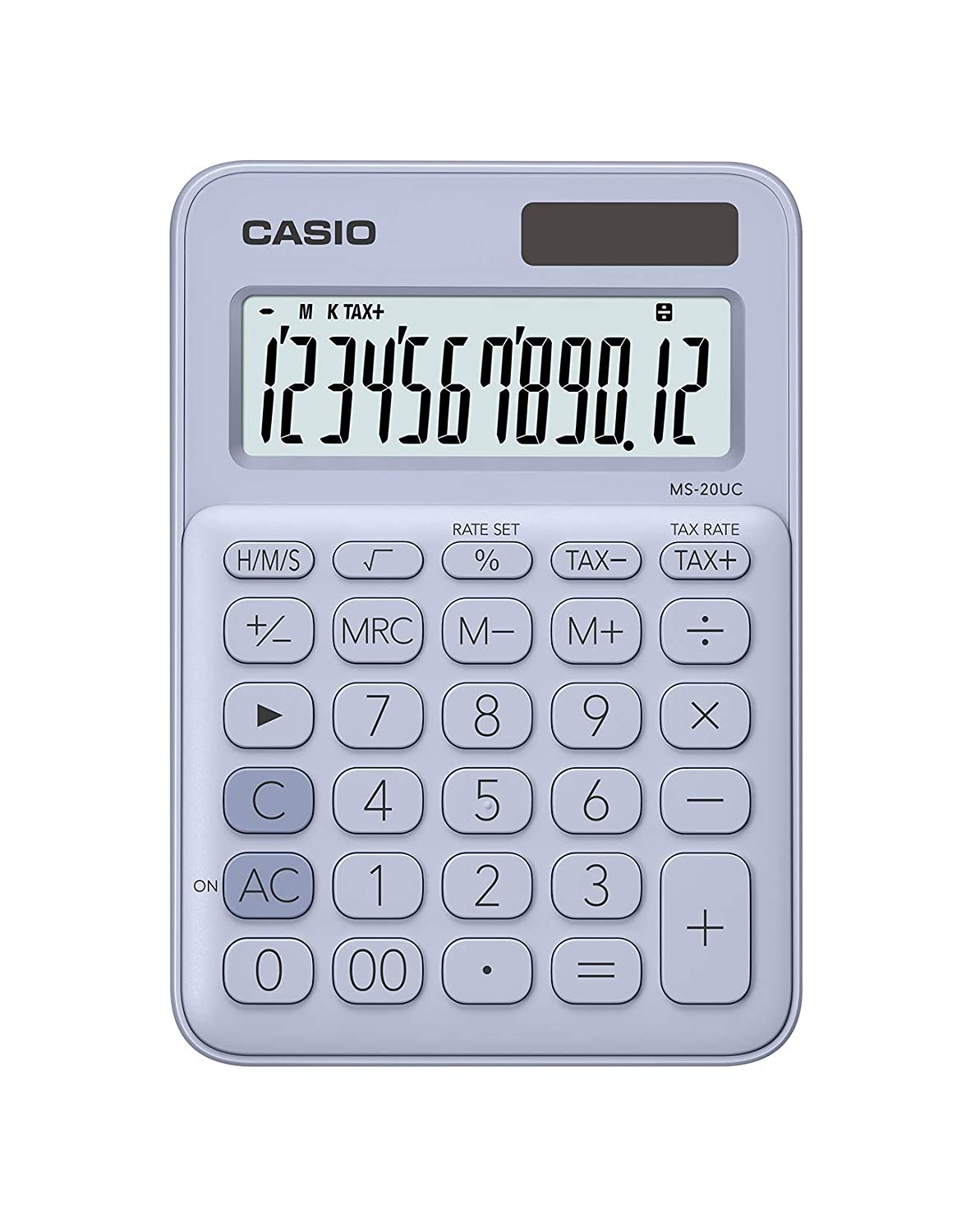 Casio MS-20UC-RD Colorful Calculator MS20UC Red