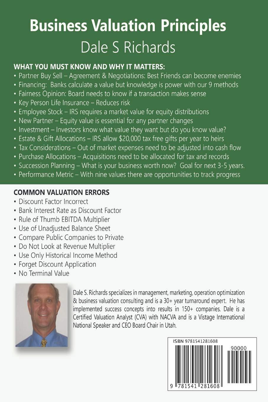 Business Valuation Principles Richards Dale S 9781541281608 Amazon Com Books