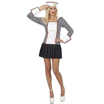 WIDMANN Widman - Disfraz de marinero navy para mujer, talla UK 10 ...