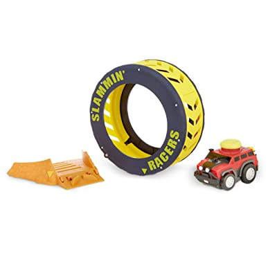 Little Tikes Slammin' Racers Turbo Tire Playset & Vehicle with Sounds: Toys & Games