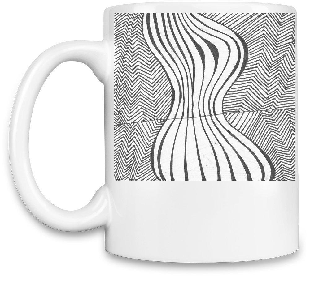 Abstract Print Taza para café: Amazon.es: Hogar