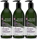 Avalon Organics Nourishing Lavender Glycerin Hand Soap, 12 Fl Ounce (Pack of 3)