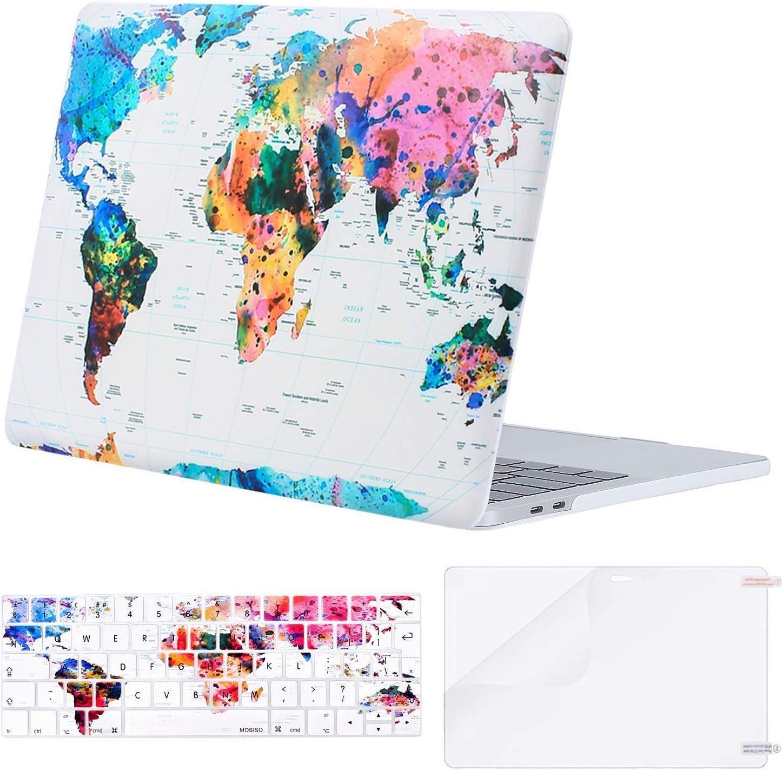 grau 2018 2016 2017 ver/öffentlichung mit Touch-id mac os x Shortcut a1989 // a1706, a1990 // a1707 MOSISO silikon-Tastatur-Abdeckung kompatibel Datum MacBook pro mit Touch-bar 13 Zoll und 15 Zoll