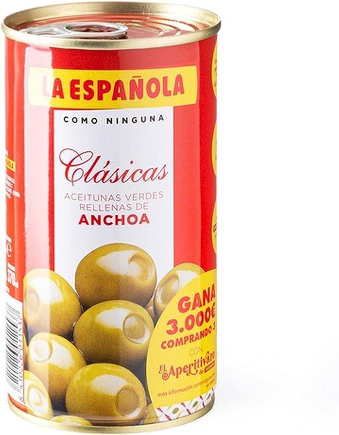 La Española Aceitunas Verdes Rellenas de Anchoa Clásicas ...