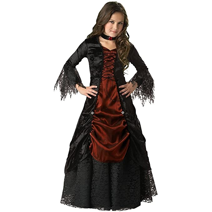 Steampunk Kids Costumes | Girl, Boy, Baby, Toddler Gothic Vampira Child Costume - Large $60.23 AT vintagedancer.com