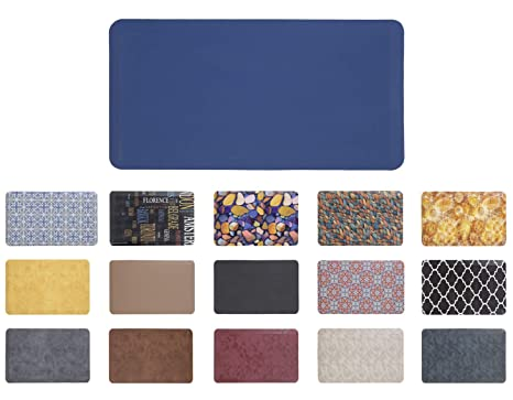 Mabel Home Anti Fatigue Floor Mat- 3 Size(20x32 & 20x39 & 24x70),16 Colors  - Standing Desk Mat-Kitchen Floor Mat-Stain Resistant-Home Non-Slip Bottom,  ...