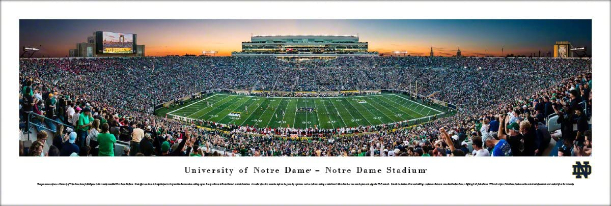 Notre Dame Football - Unframed 40 x 13.5 Poster by Blakeway Panoramas