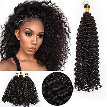 1 6packs 14 Water Wavy Crochet Hair Braiding Hair Extensions