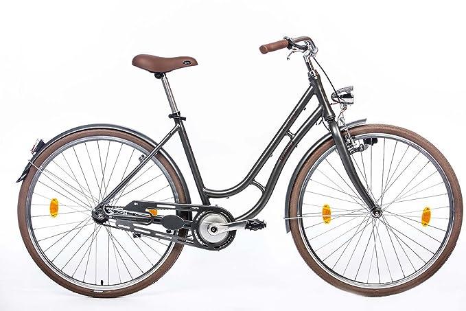 tretwerk DIREKT gute Räder Nostalgie Retro 28 Zoll Cityrad, Damen-Fahrrad mit 1-Gang