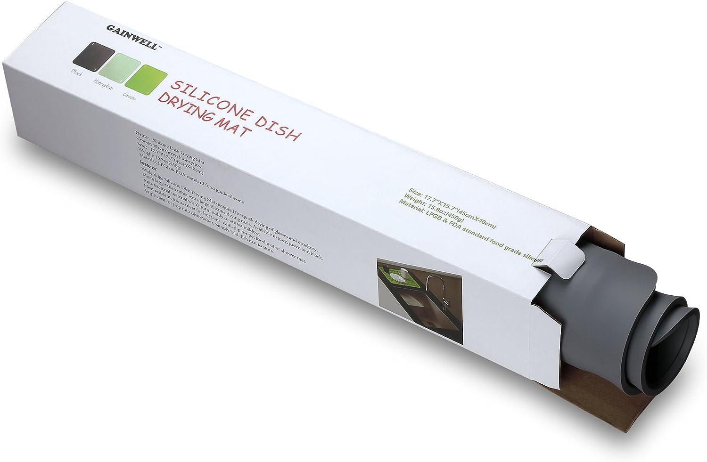 Alfombrilla Escurreplatos de Silicona 45x40cm GAINWELL Garant/ía Ilimitada Gris