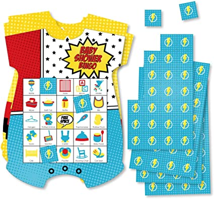 SuperHero Baby Shower Game Bundle Superhero 12 Baby Shower Game Bundle SuperHero 12 Baby Shower Game Package