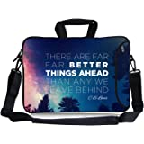 """Kitron(TM) 16 17""""-17.3-Inch CS Levis Better Things ahead Water Resistant Neoprene Sleeve Notebook Neoprene Messenger Case Tote Bag with Handle and Carrying Strap"""