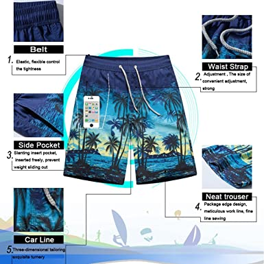Happy Boba Bubble Tea Womens Beach Shorts Summer Beachwear Quick Drying Casual Elastic Waist Pockets Lightweight Breathable Boardshort