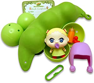 Thin Air Brands Pea Pod Babies - Collectible Mystery Surprise Toy with Mini Baby, Clothing, & Accessories - All in A Soft Pea Pod - Small Doll for Boys & Girls Ages 3+, Assorted