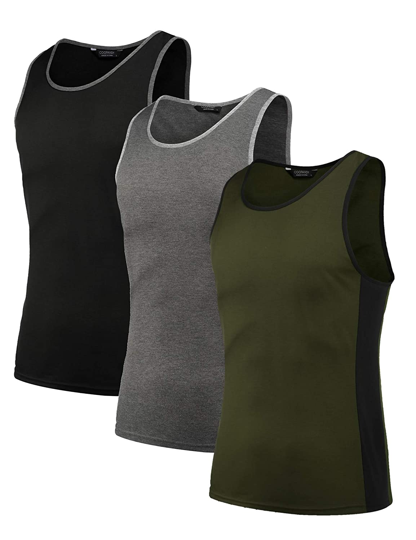 COOFANDY Tank Top Herren Sport /Ärmellos Muskel Shirt Gym Fitness Bodybuilding Training 3er Pack