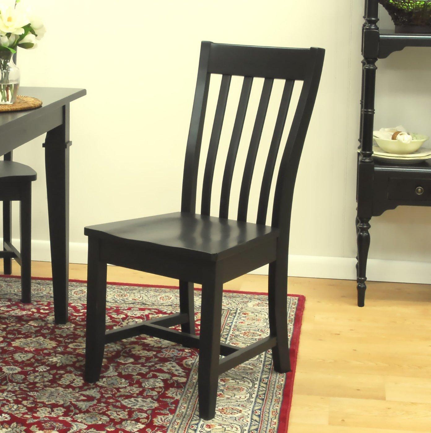 Schoolhouse Chairs Black Black Schoolhouse Chairs Set of 2 Black