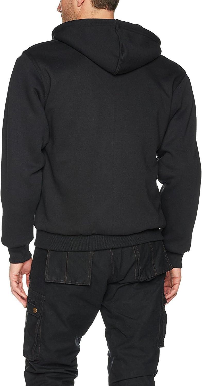 volledig Gevoerd Australian Bikers Gear Bikers Gear Kevlar/® Aramidevezel UK Maat XL = 117 Ce-bescherming 122/cm kleur zwart Motorjack met Capuchon
