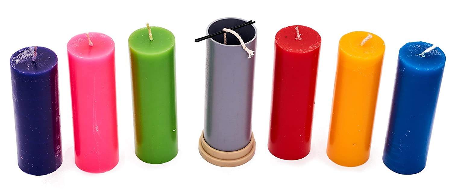 Width: 1.9 in Сylinder Mold Plastic Candle molds for Making Candles of Wick Included as a Gift Height: 5.1 in 30 ft