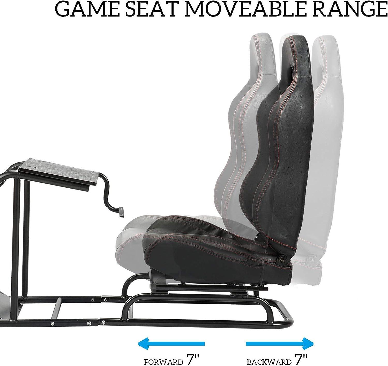 Z ZELUS Si/ège Baquet avec Support de Volant R/églable pour PS4 PS3 Xbox One Xbox 360 Logitech Thrustmaster simulation de course, simulateur de conduite