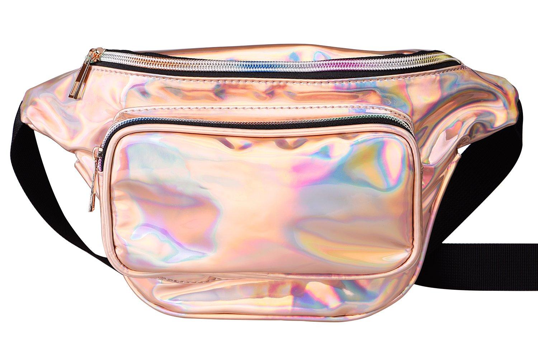 G Fiend Women Waist Pack Holographic Shiny Fanny Pack Fashion Bum Bag