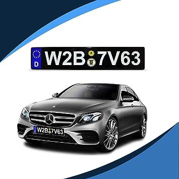 Mercedes AMG European Euro License Number Plate Holder Frame German Car Tag