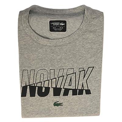 Lacoste Men's Sport Djovokic Short Sleeve Technical Jersey Logo T-Shirt at Men's Clothing store