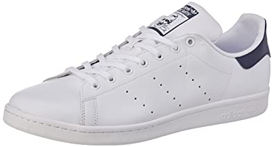 Adidas Stan Smith, Chaussures de Fitness Homme, Blanc (Blabas/Azuosc 000)