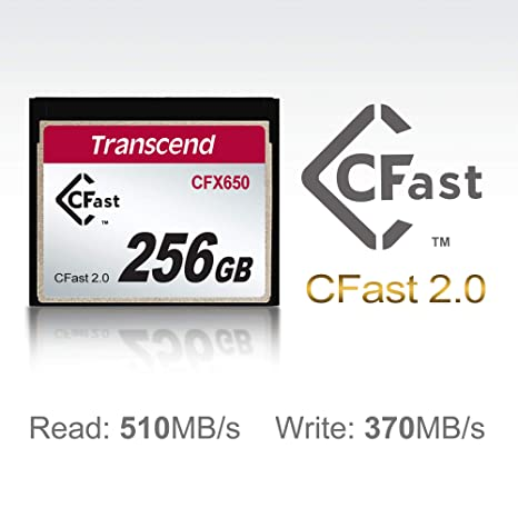Transcend TS256GCFX600 - Tarjeta de Memoria CFast , 256 GB, 500 Mb/s