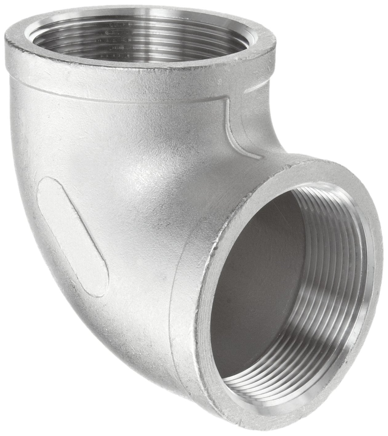 Merit Brass Stainless Steel 316 Cast Pipe Fitting, 90 Degree Elbow, Class 150, 3/4'' National Pipe Taper Thread Female (Pack of 25)