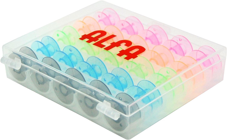 Alfa 6050-Caja 25 canillas Colores, Multicolor